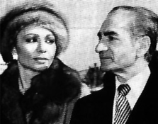 Shah Mohammad Reza Pahlavi and Shahbanu Farah shortly before leaving Iran in 1979 during the Iranian revolution.