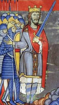 Ancient depiction of the first Plantagenet King Henry the 2nd of England