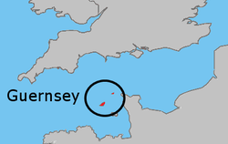 Location of  Bailiwick of Guernsey  (Bailiwick of Guernsey within circle)