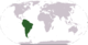Location of South America
