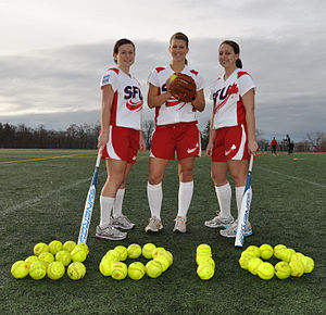 SFU's women's softball team sports Olympic logo.jpg