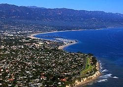 The coastline of Santa Barbara
