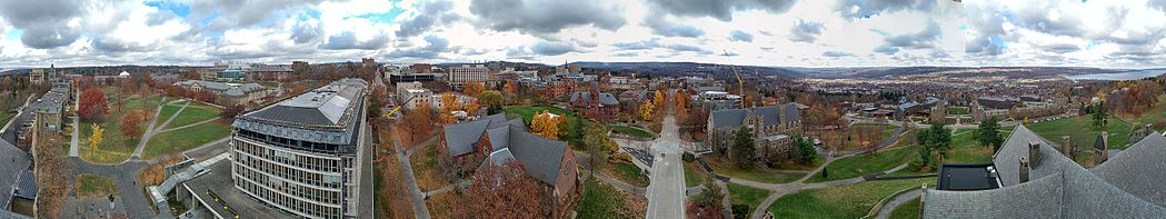 The campus of Cornell University.