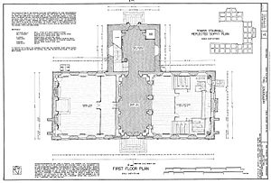HABS measured drawing of the first floor of Independence Hall.jpg