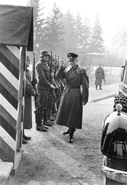 A General saluting in customary Wehrmacht style, January 1941