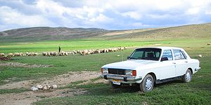 A Paykan seen here in the countryside.