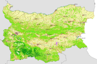 Map of Bulgaria's landcover
