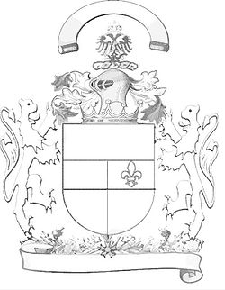 Outline of a coat of arms