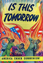 Cartoon book warning of Communist aggression