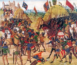 Image of the Battle of Crecy taken from Froissart