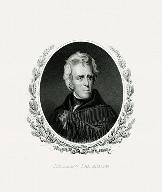 BEP engraved portrait of Jackson as President
