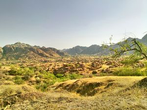 The Karunjhar hills in Nagarparkar, Pakistan