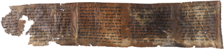The second of two parchment sheets making up 4Q41, it contains Deuteronomy 5:1–6:1