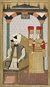 Sultan Mehmet III (reigned 1595-1603) Enthroned, Attended by Two Janissaries LACMA M.85.237.34.jpg