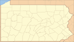 Location of Ohiopyle State Park in Pennsylvania