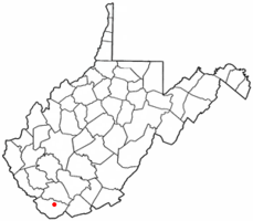 Location of Welch, West Virginia