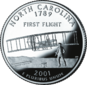 North Carolina quarter dollar coin