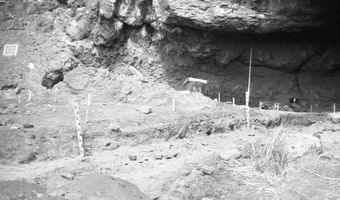 University of Oregon archaeological excavations at Fort Rock Cave, Oregon (USA), 1966.jpg