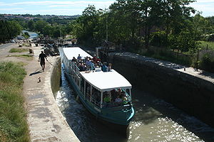 Fonserannes Lock on the Canal du Midi