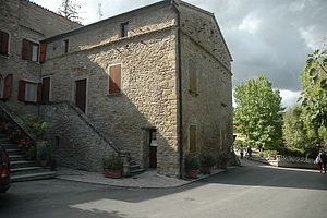 vernacular stone building, birthplace of Benito Mussolini, now a museum