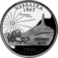 Nebraska quarter dollar coin