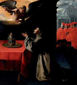 Francisco de Zurbarán - The Prayer of St. Bonaventura about the Selection of the New Pope - Google Art Project.jpg