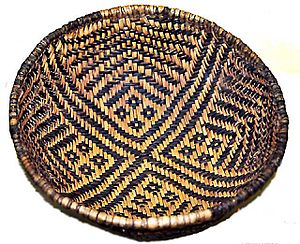 A color picture of a weaved basket