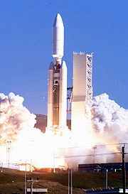Titan IVB launching Lacrosse satellite.jpg