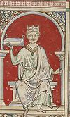 William Rufus depicted in the Stowe Manuscript