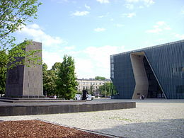 Museum of the History of Polish Jews, exterior, 2013.jpg