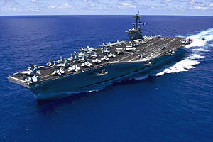 USS Carl Vinson (CVN-70) underway in the Pacific Ocean on 31 May 2015.