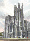 19th-century engraving of Canterbury Cathedral