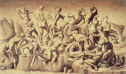copy of lost painting that had been by Michelangelo