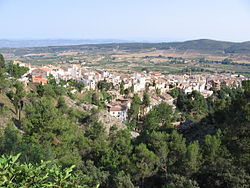 Agres seen from the Montcabrer.