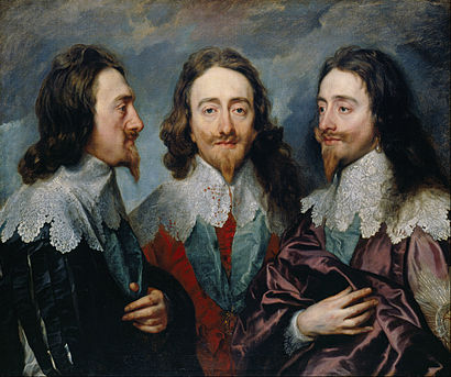 Charles I in Three Positions by Anthony van Dyck, 1635–36