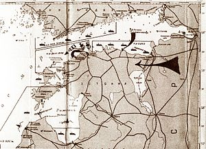 schematic map of Soviet blockade and invasion of Estonia