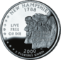 New Hampshire quarter dollar coin