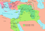 The Assyrian Empire at its greatest extent, at the time of Esarhaddon (671 AD)
