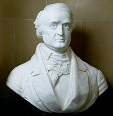 A marble bust of Breckinridge