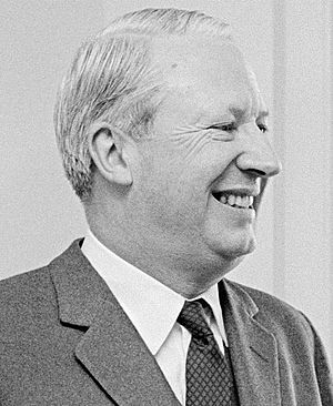 Portrait photograph of Edward Heath 1966