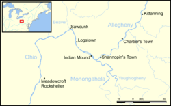 American Indian villages were located throughout Western Pennsylvania. Kittanning still uses its American Indian name, while the town of Sawcunk lies on the site of present-day Rochester, Pennsylvania.