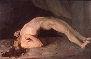 Opisthotonus in a patient suffering from tetanus - Painting by Sir Charles Bell - 1809.jpg