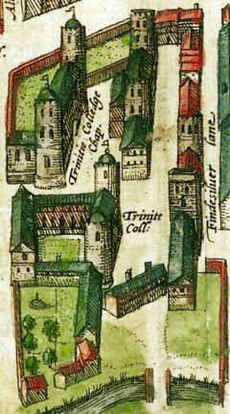 Detail of 1575 map