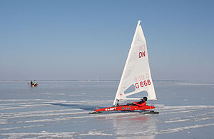 Torsten Siem Ice yachting at the DN European Championship 2011, in Nasva, Estonia