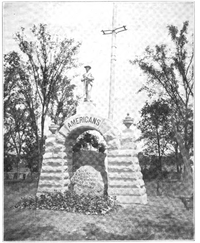 The memorial to the Confederate dead at Camp Chase, published in 1909