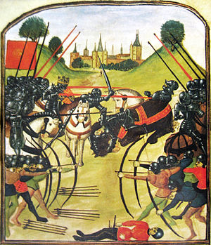 The Battle of Tewkesbury, as illustrated in the Ghent manuscript