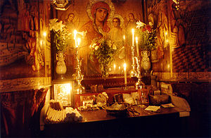 Coptic Icon in the Coptic Altar of the Church of the Holy Sepulchre, Jerusalem