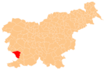 The location of the Municipality of Sežana