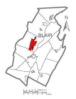 Location of Altoona in Blair County