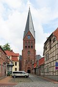 Old town and church of Hagenow